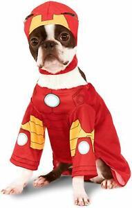 IRON MAN Dog Costume - XL - Marvel - Includes Shirt & Hood - Rubie's - NWT