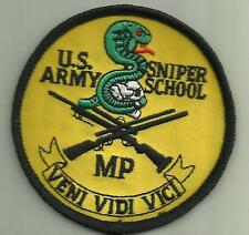 U.S.ARMY SNIPER SCHOOL PATCH MP SPECIAL OPS SOLDIER USA RIFLEMAN SCOPE SHOOTER