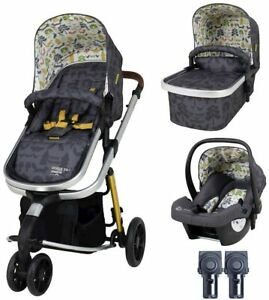 New Cosatto giggle 3 in 1 pram & pushchair NatureTrail with car seat, raincover