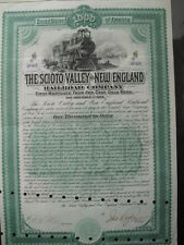 Scioto Valley and New England Railroad Companay 1889   1000$