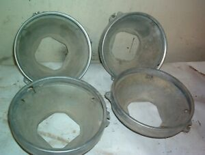 1965 1966 1968 1973?? CHEVROLET GM HEADLIGHT MOUNT BUCKET & TRIM RING SET