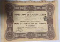 Societe des Mines d'Or de l'Andavakoera, Goldmine auf Madagaskar, Februar 1911