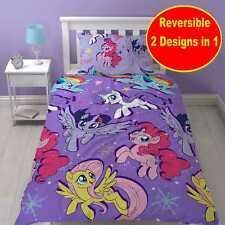 NEW MY LITTLE PONY SINGLE DUVET QUILT COVER SET GIRLS KID PURPLE BEDROOM GIFT