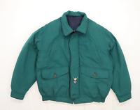 Marks & Spencer Mens Size L Cotton Blend Graphic Green Coat