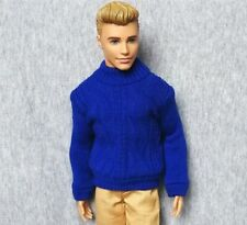 """Handmade doll clothes Royal Blue Sweater for 12"""" ken dolls(only 1 pc sweater)"""