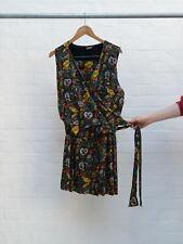 Jean Paul Gaultier 80s-90s multicoloured face print vest skirt set - sz M L