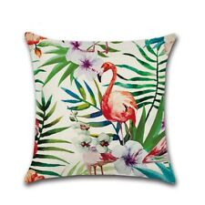 Tropical Plant Pillowcases Cushion Case Pillow Cover Bedroom Coffee Shop 45*45cm
