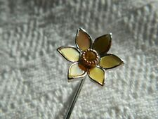 Clogau Sterling Silver & 9ct Rose Gold Daffodil Lapel Pin RRP £99.00