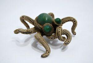 Original Spider Composition & Jade Quartz Green Signed