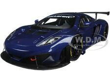 MCLAREN 12C GT3 AZURE BLUE 1/18 DIECAST MODEL CAR BY AUTOART 81344