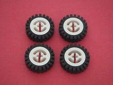 Lego Technic - 4 roues blanches 25mm diamètre REF 3482 / 3483