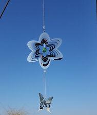 Windspiel 3 D Edelstahl mit Glaskugel Duo 50x26 cm m. Hängevorrichtung 7369bo