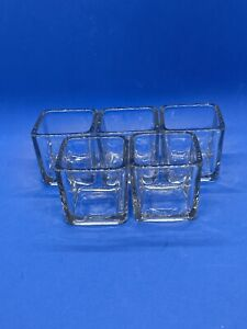 Clear Square Votive Candle Holders - Home Decor - 5 Pieces