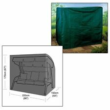 Parkland 3 Seater Garden Swing Hammock Cover Furniture Winter Protection - Green