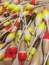 US SELLER* 50 Balsa Wood Slip Bobber Stick Carppie Floats Assorted Sizes Salmon