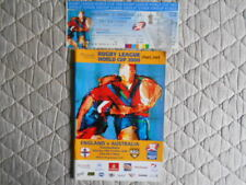 ENGLAND V AUSTRALIA RUGBY LEAGUE WORLD CUP MATCH PROGRAMME + TICKET 2000
