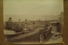 antique old PHOTO LEROUX  Arab Muslim AFRICA city walls ALGERIA 1890s