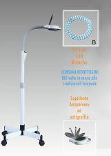LAMPADA a LED LENTE D'INGRANDIMENTO 8 DIOTTRIE CON STATIVO ESTETISTA LABORATORIO