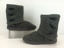 Bearpaw Grey Tall Knit Sweater Boots Women's Size 6  Style 658W
