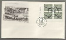 1983 Canada 37c Plough. Old Utensils Plate Block FDC. First day Cover