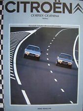 brochure CITROEN CX REFLEX & CX ATHENA  BERLINES 1981 FRANCAIS