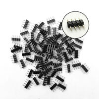 50PCS 4/5Pin Male Plug Adapter Connector for RGB RGBW 3528 5050 LED Strip Light