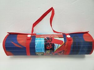 Marvel Spiderman Beach Pool Mat With Detachable Pillow Carry Shoulder Strap NWT