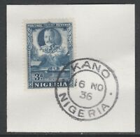 Nigeria 5532 - 1936 KG5 3d Pictoria on piece with MADAME JOSEPH FORGED CANCEL