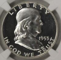 1953 Proof Franklin Half Dollar lt cameo NGC PF 64 - AP 13026