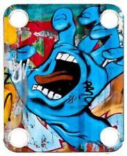 Neck Plate for Fender Guitar Color Graphic PJ Bass Strat Tele Grafitti 5