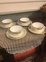 Set Of 4  Antique J&C Bavaria Kassandra Porcelain Cup & Saucer. Rare.