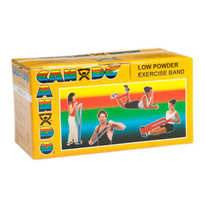 CanDo Low Powder Exercise Bands-6 Yard Rolls