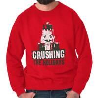 Christmas Nutcracker Crushing The Holidays Funny Xmas Joke Crewneck Sweatshirt