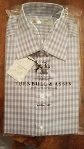 New Turnbull Asser 100% Cotton Shirt 16/41 Made in England