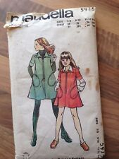 Maudella vintage sewing pattern (5975)  girl's overdress age 7-12 years
