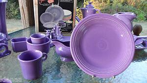 "DINNER PLATE lilac purple HOMER LAUGHLIN FIESTA 10.5"" 1st new"