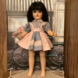 """VINTAGE 1950'S 19"""" P-92 IDEAL TONI DOLL-MARKED P-19 ON HER BACK-PRE-OWNED-PRETTY"""