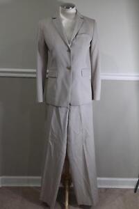 J.CREW Women's wool Beige Blazer Pant's suit Size P4/2 (SU100