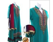 Pakistani Fancy Ready-Made Designer Party Wear Shalwar/ Kameez Suit (Stitched)