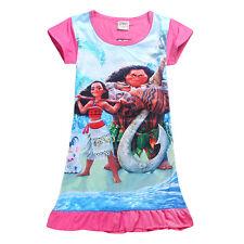 Baby Kids Girls Cartoon Shift Dress Summer Shirt Nightdress Nightie Sleepwear