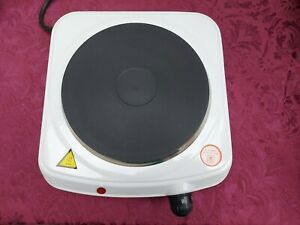 BOXED QUEST COMPACT ELECTRIC DIE CAST COOKING PLATE WITH INSTRUCTION MANUAL