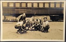 Real Photo RPPC ~ Black Man Rolling Dice In Craps Game w Six Railroad Workers