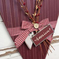 AGD Patriotic Decor – America Farmhouse Pipberry Wood Heart