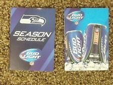 2014 Seattle Seahawks (NFL) Bud Light team logo cover football pocket schedule