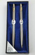 Parker 75 Vintage  Classic Sterling Silver Ballpoint & Pencil Set c.1960 - MINT