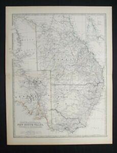Antique Map: Australia by Alexander Keith Johnston, Handy Royal Atlas, 1884