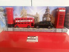 Londra Bus NERO Taxi, TELEFONO & CASELLA POSTALE matita temperini set souvenir