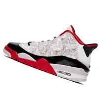 NIKE MENS Shoes Air Jordan Dub Zero - White, Black & Varsity Red - OW-311046-116