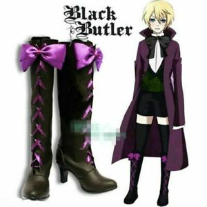 Black Butler II 2 Alois Trancy Anime Cosplay Costume Shoes Boots @X