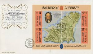 1987 BAILIWICK OF GUERNSEY WILLIAM GARDNER FIRST DAY COVER FDC
